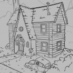 Zombie House Line-art