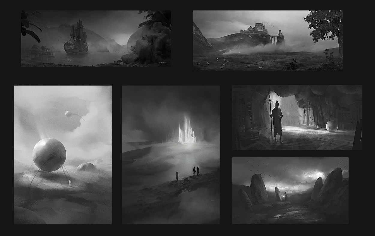 thumbnail sketches 01 - mix