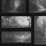 thumbnail sketches 02 - jungle
