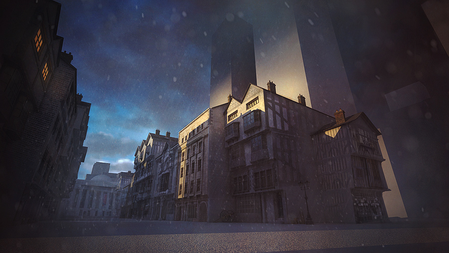 Victorian Street Concept 3ds max