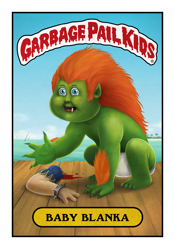 Garbage Pail Kids Blanka Street Fighter 2