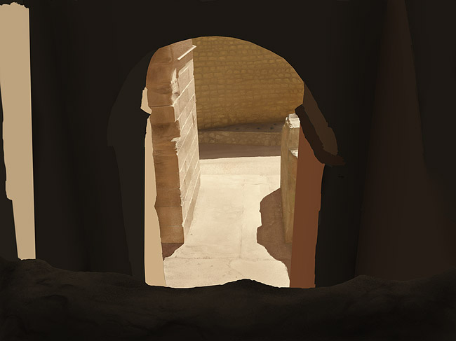 Digital Painting Tutorial: photo real stone ruins 7