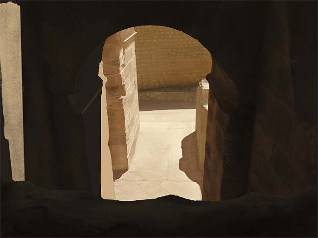 Digital Painting Tutorial: photo real stone ruins 11