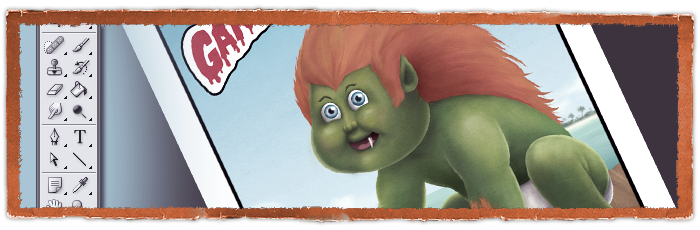 Garbage Pail Kids - Blanka painting
