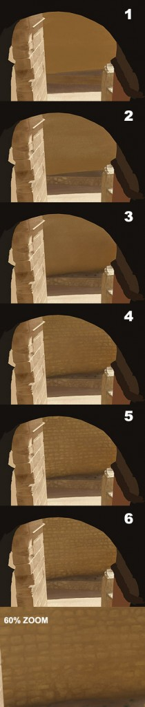 Digital Painting Tutorial: photo real stone ruins 6b