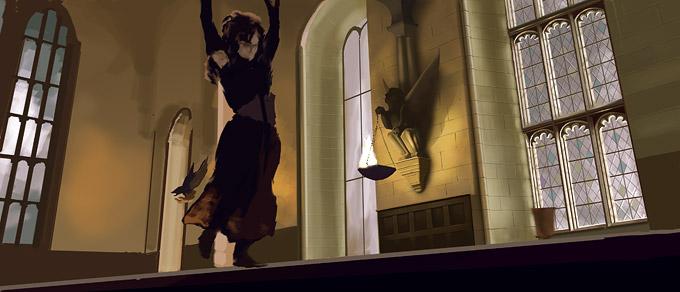 Hogwarts Digital Painting