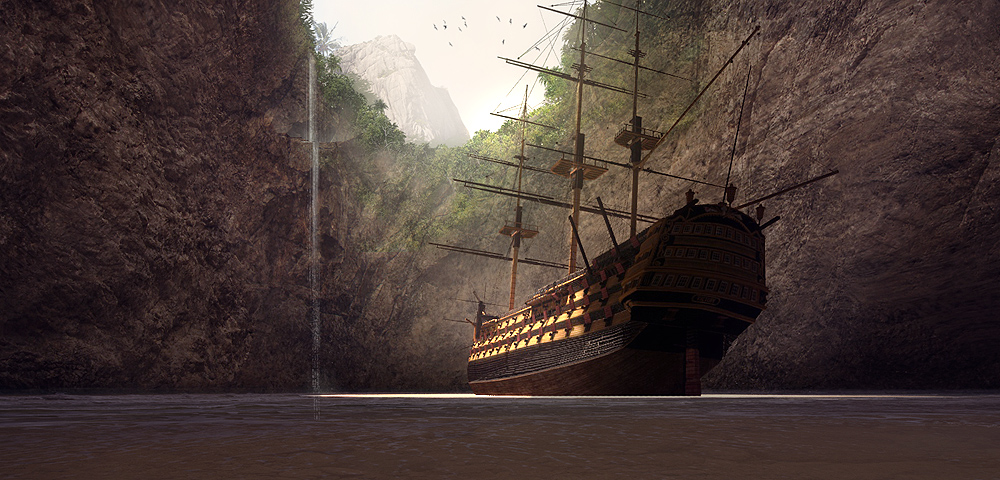 pirate's den digital painting tutorial