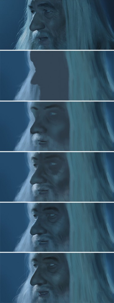 Gandalf digital painting tutorial