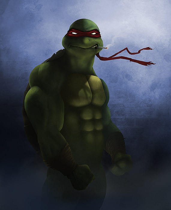 Ninja Turtle photoshop painting