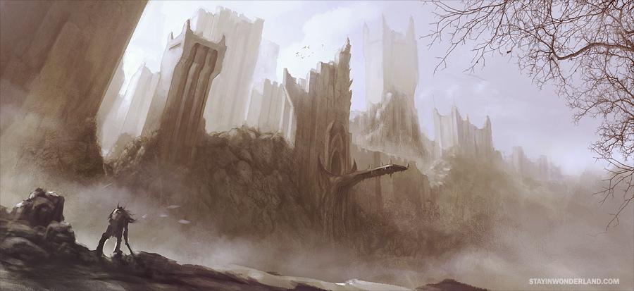 Mountain City Concept Art