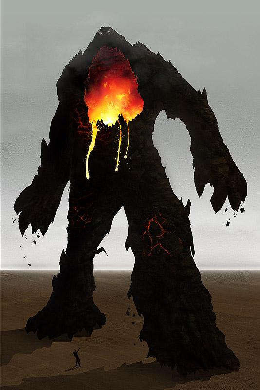Colossus Digital Painting - Lava