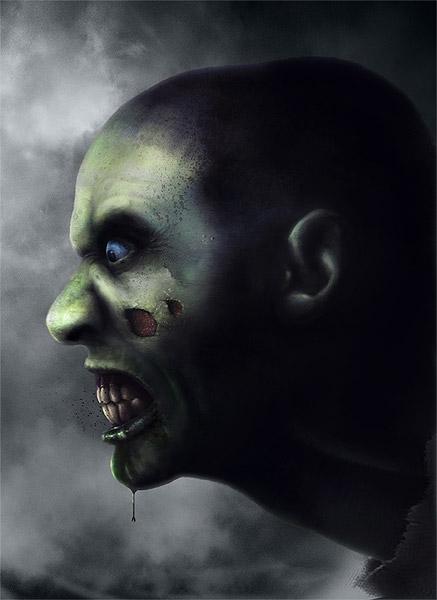 Zombie Digital Painting Tutorial - final